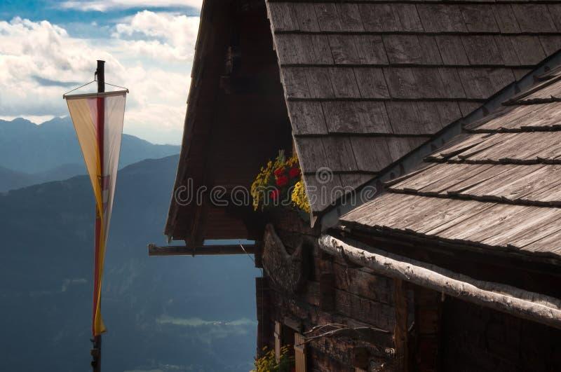 Cabana Lammersdorfer Áustria Carinthia da montanha fotografia de stock royalty free