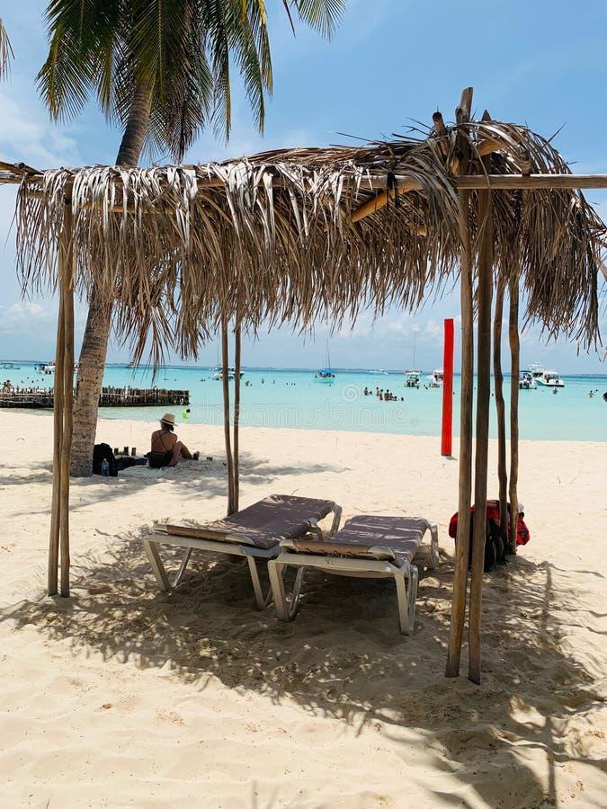 Cabana na plażowym portrecie obrazy stock