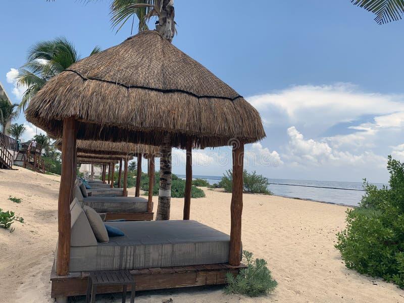 Cabana na plażowym portrecie fotografia stock