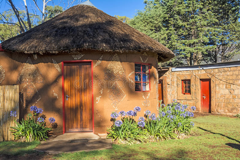 Cabana redonda, África fotos de stock