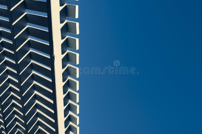 Cabana roofline na słonecznym dniu zdjęcie royalty free