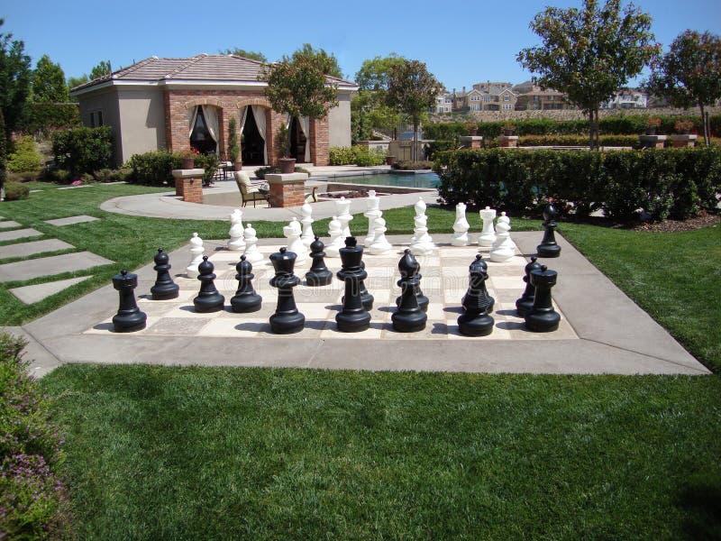 cabana szachowej gry basenu dopłynięcie obrazy stock