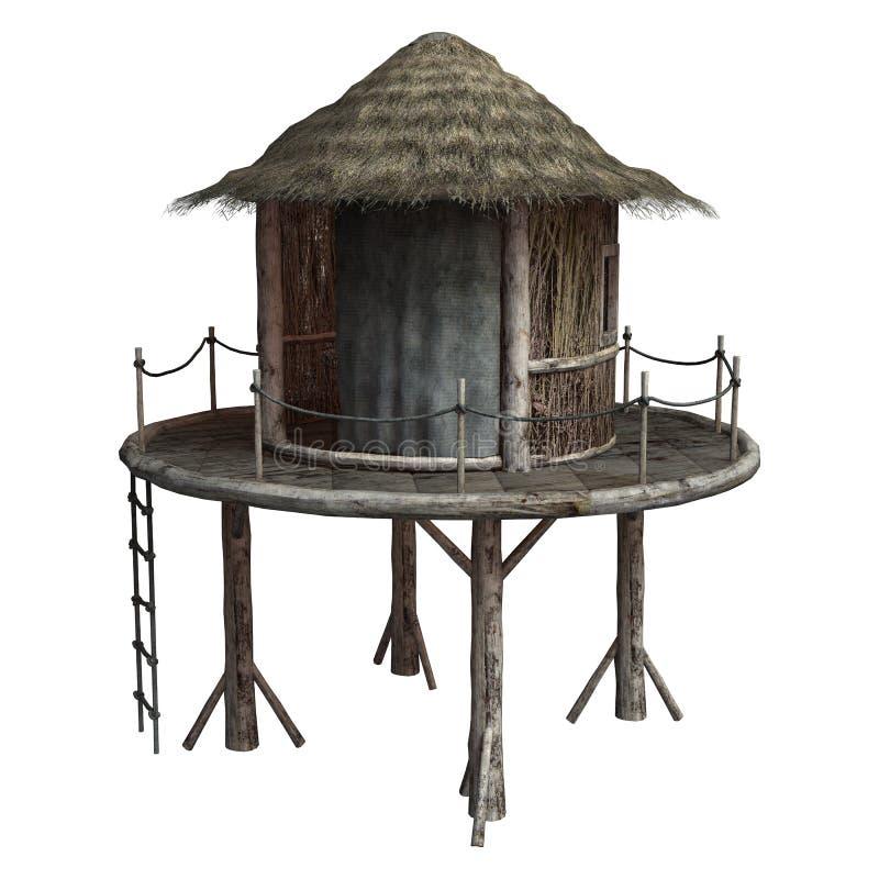 Cabana tribal ilustração royalty free