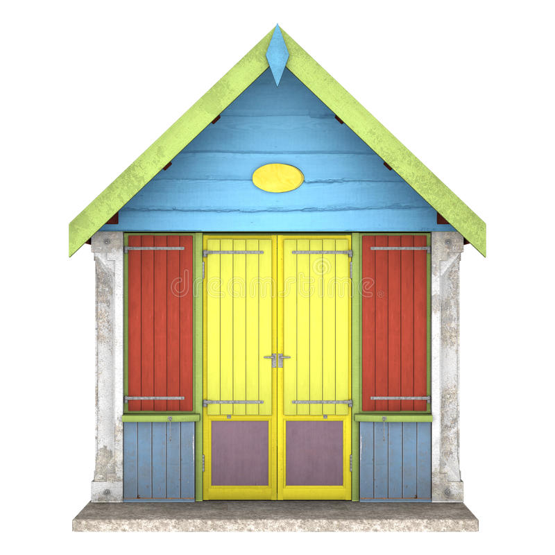 Cabana tropical da praia ilustração do vetor