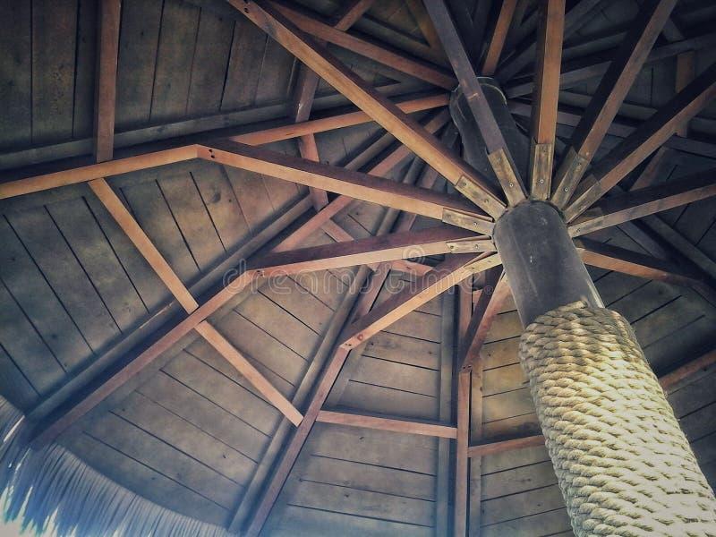 Cabana tropical da praia fotografia de stock