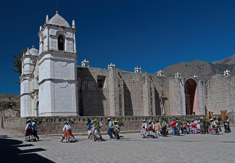 Cabanaconde Περού στοκ εικόνες