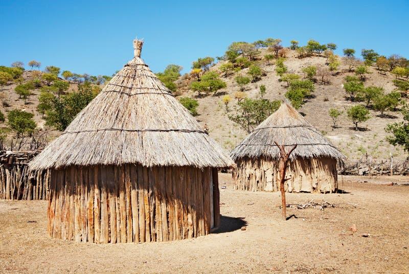 Cabanas africanas tradicionais, Namíbia fotografia de stock royalty free