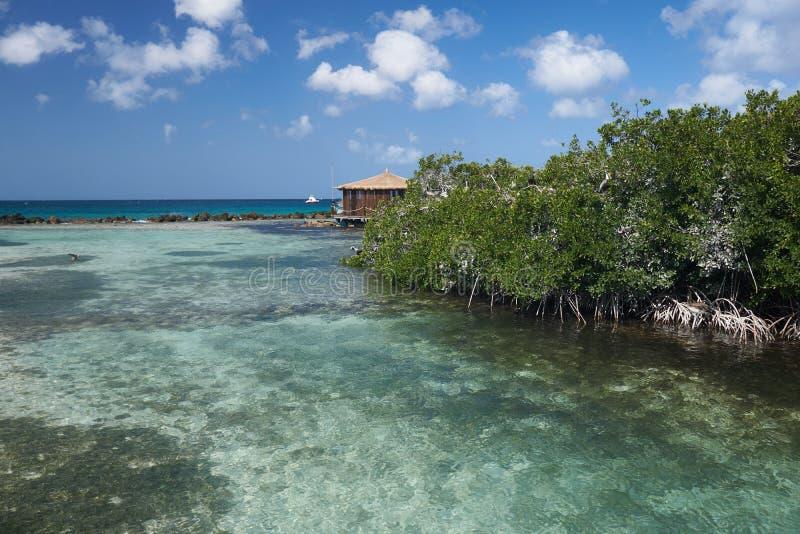 Cabanas auf dem Strand stockfotografie