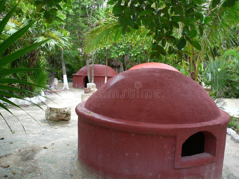 Cabanas da meditação foto de stock royalty free