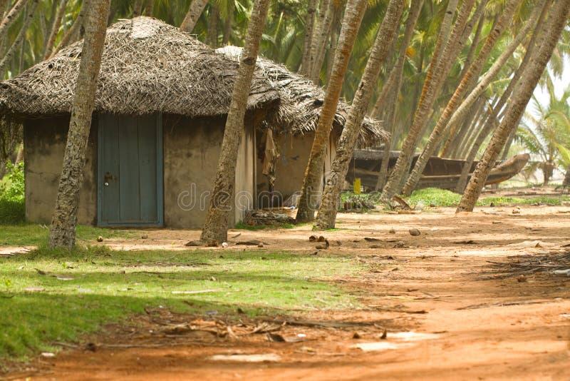 Cabanas da pesca em Kerala India imagem de stock royalty free