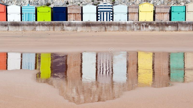 Cabanas da praia de Broadstairs imagens de stock royalty free