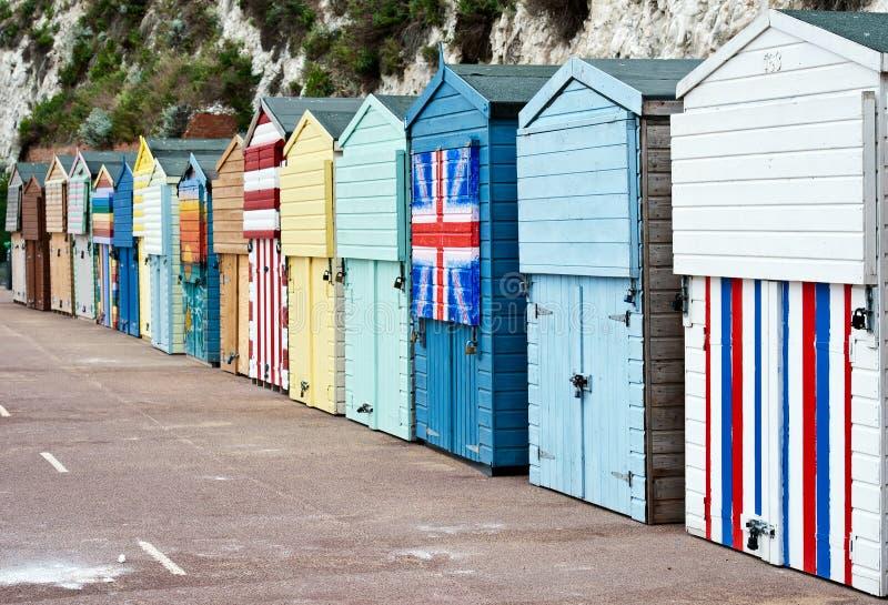 Cabanas da praia de Broadstairs fotografia de stock royalty free