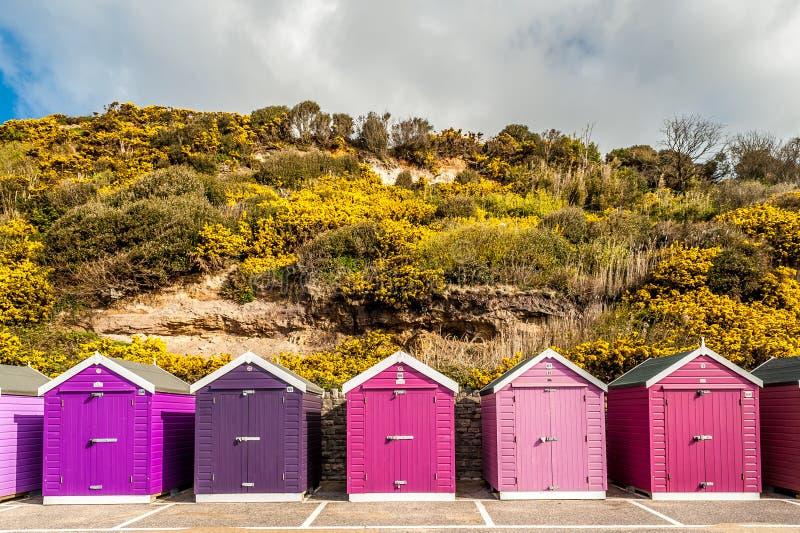 Cabanas da praia do armazenamento fotos de stock royalty free