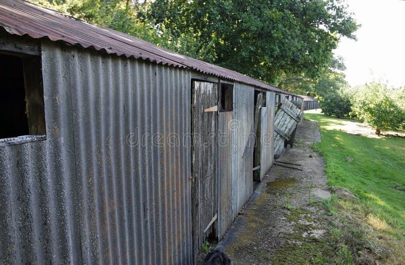Cabanas dos funis em Kent fotografia de stock royalty free