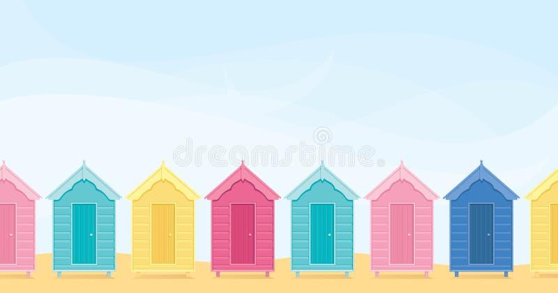 Cabanas em uma fileira ilustração stock