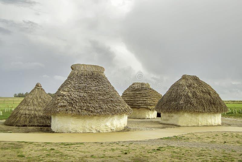 Cabanas velhas históricas da lama fotos de stock royalty free