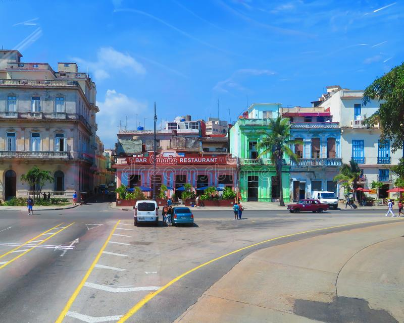Cabanastången och restaurangen, olika affärer royaltyfri foto