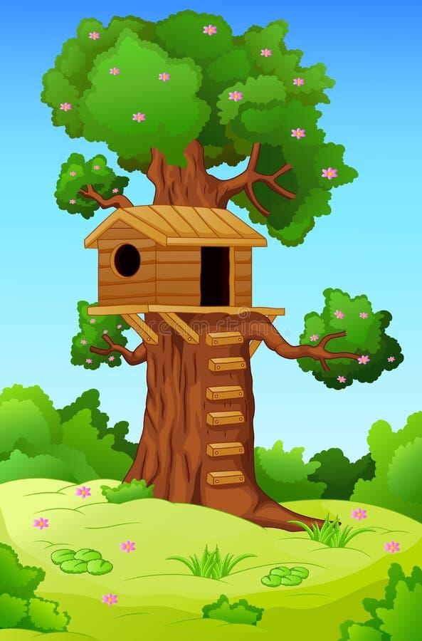 cabane dans un arbre illustration de vecteur illustration du colonie 44300566. Black Bedroom Furniture Sets. Home Design Ideas