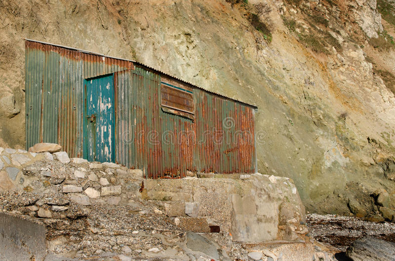 Cabane ondulée rouillée photos libres de droits