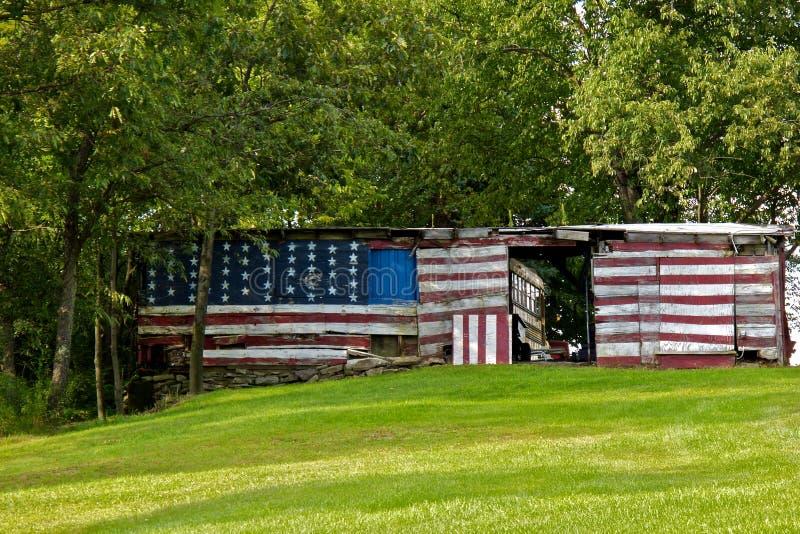 Cabane patriotique photographie stock