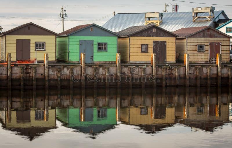Cabanes de pêche image libre de droits