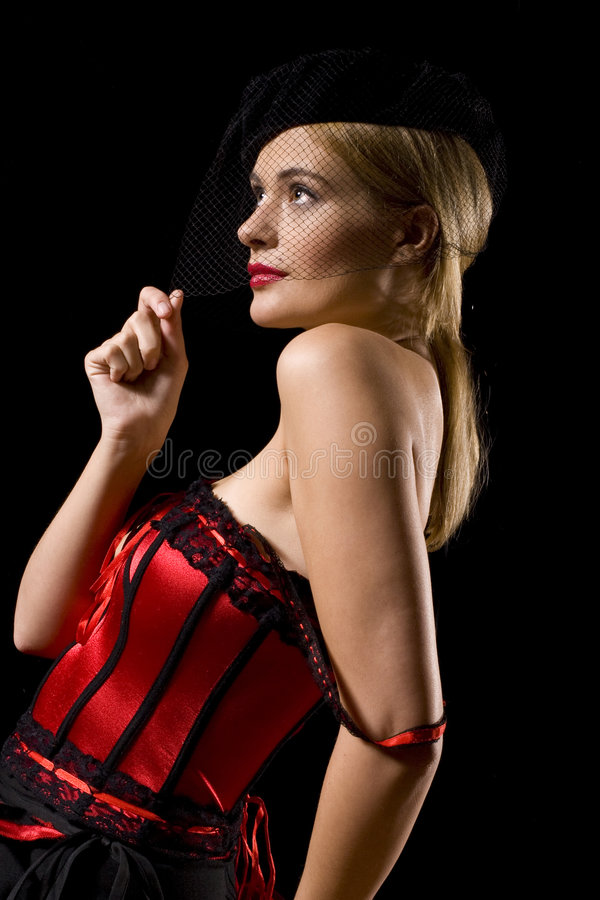 cabaret κορίτσι στοκ εικόνα με δικαίωμα ελεύθερης χρήσης