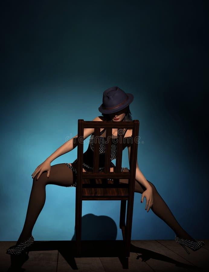 Cabaret χορευτής απεικόνιση αποθεμάτων