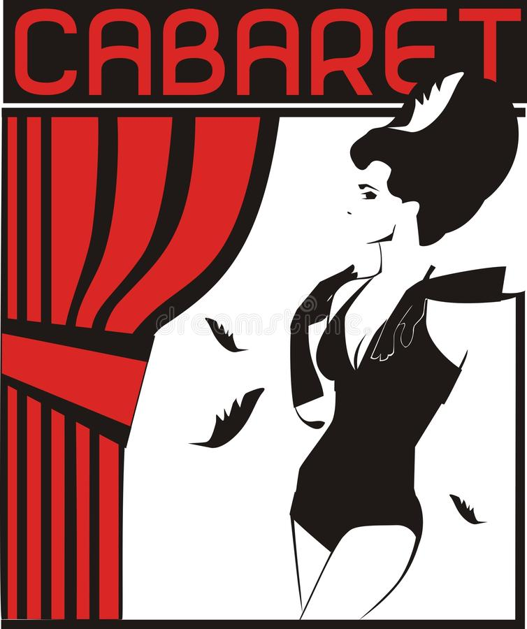cabaret ilustración del vector