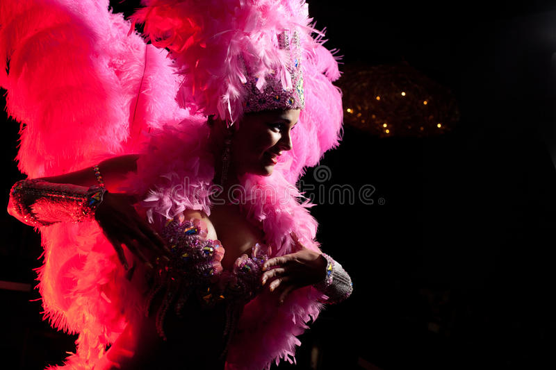 Cabaret dancer royalty free stock image