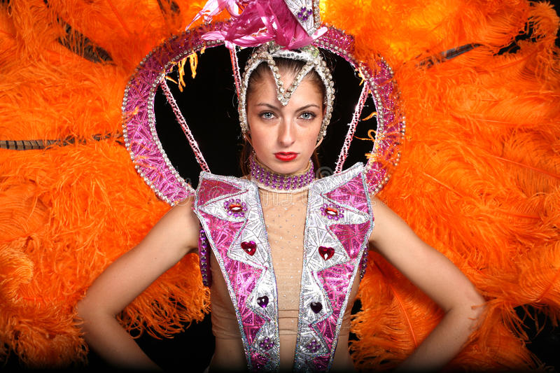 Cabaret dancer stock images