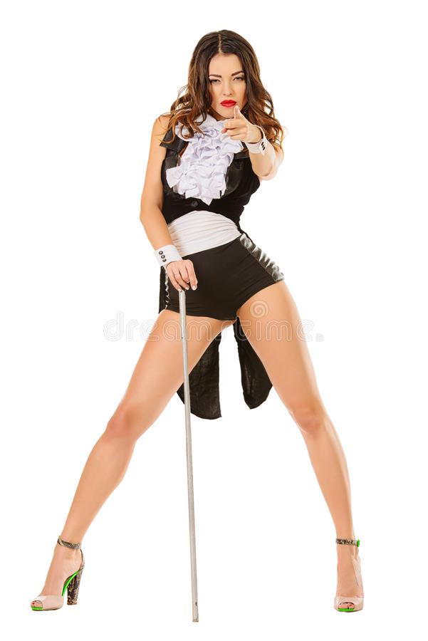 Cabaret dancer royalty free stock photos
