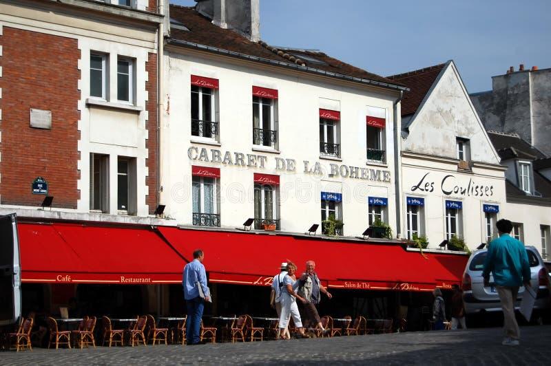 Cabaret de la Boheme à Paris photographie stock libre de droits