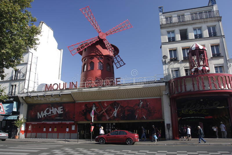 Cabaret du Moulin rouge, Paris image stock