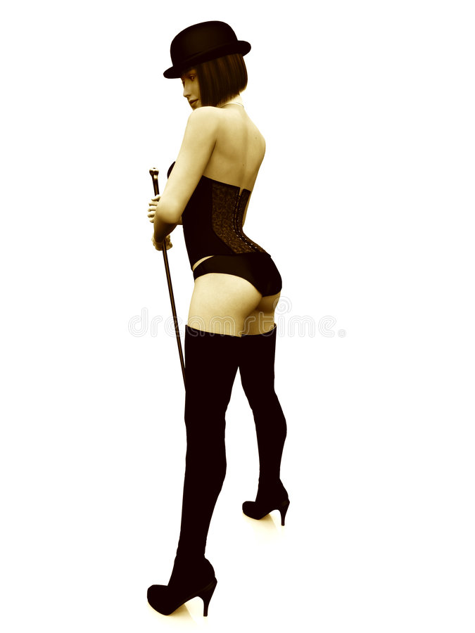 Cabaret Girl Stock Images