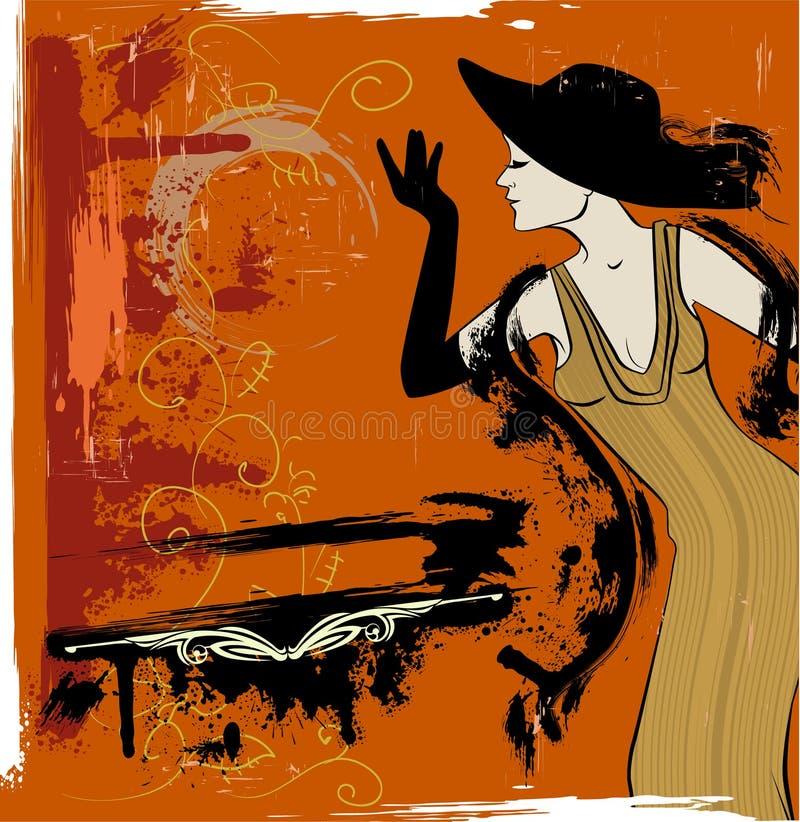The cabaret singer royalty free illustration
