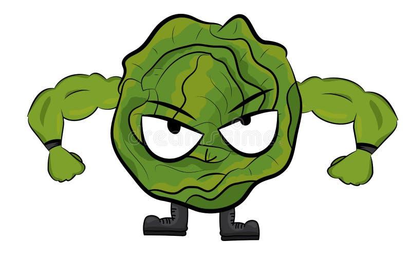 Cabbage character illustration vector illustration