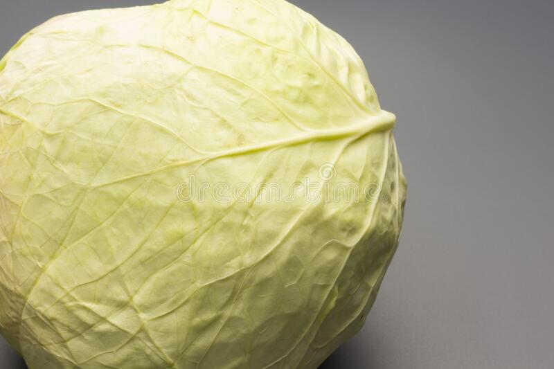 Cabbage, green and healthy winter vegetable. Freshly picked cabbage from the garden, winter vegetable, healthy and ideal for vegetarian meals; winter meals stock image