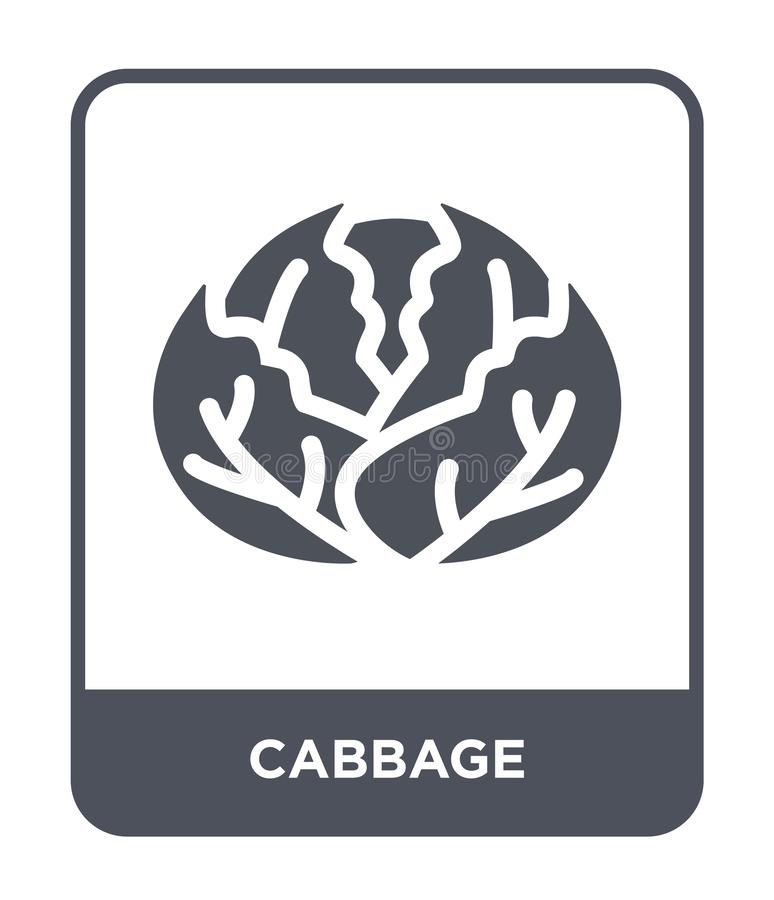 cabbage icon in trendy design style. cabbage icon isolated on white background. cabbage vector icon simple and modern flat symbol stock illustration