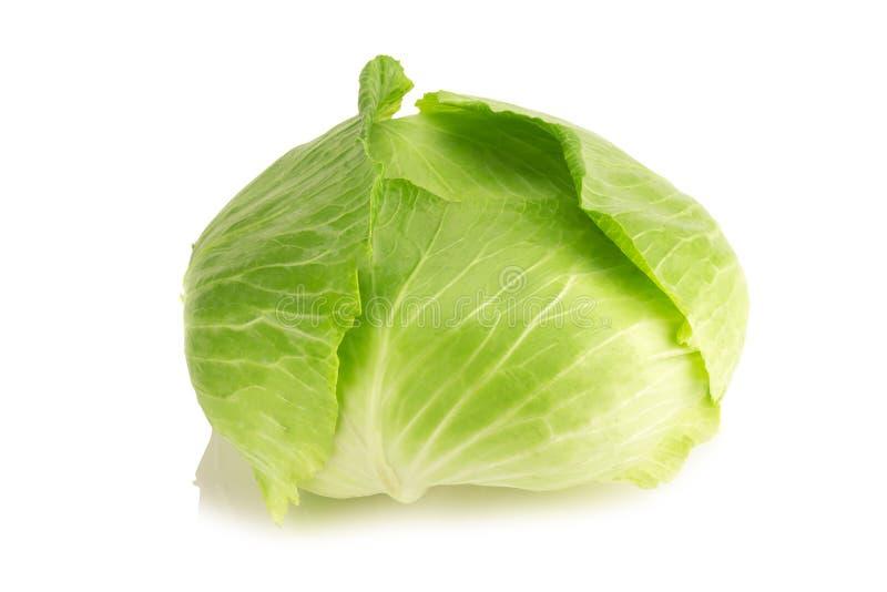 Cabbage isolated on white background stock photos