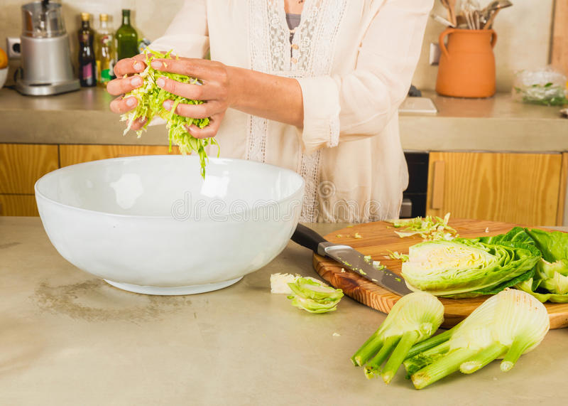 Cabbage kimchi and sauerkraut stock photo