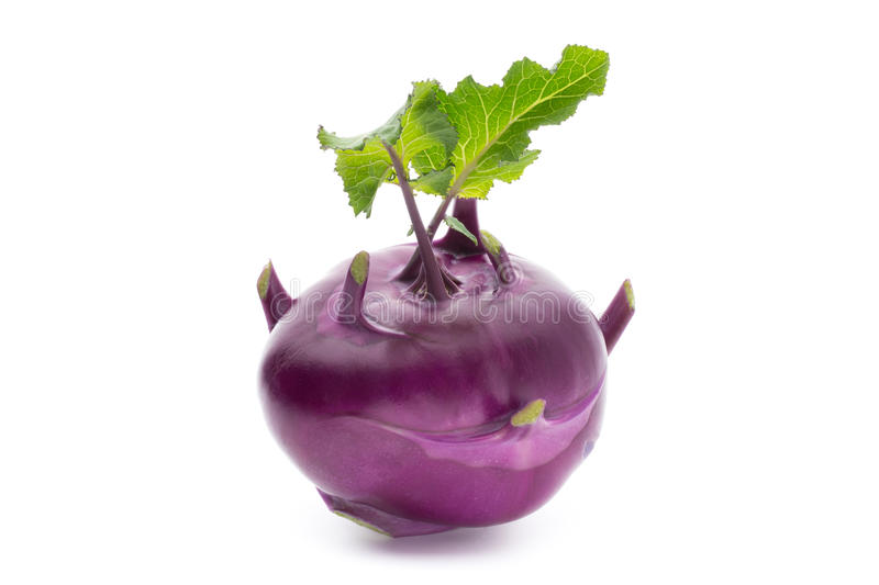 Cabbage kohlrabi isolated on white background. stock images