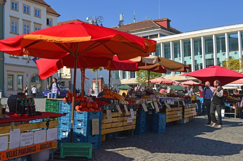 Brno Cabbage Market, Moravia, Czech Republic. Cabbage Market Zelný trh is situated in the middle of the historical city centre in Brno began on 13th century royalty free stock photos