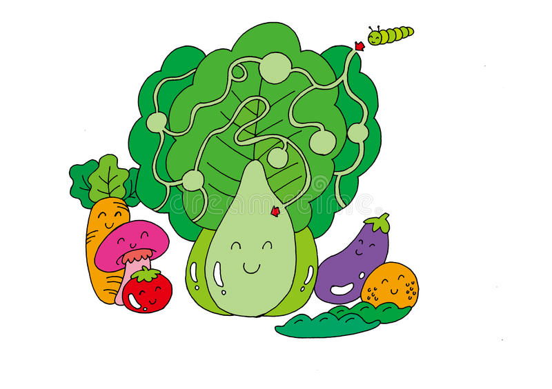 Download Cabbage maze stock illustration. Illustration of insect - 29325408