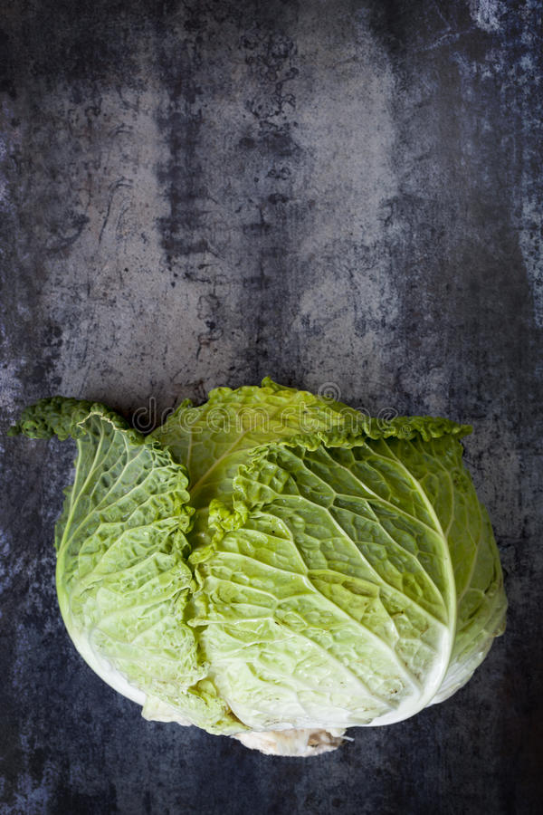 Free Cabbage On Slate Overhead View Stock Image - 37766251