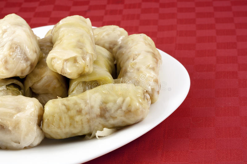 Cabbage rolls. (sarma) stuffed with rice and meat royalty free stock image