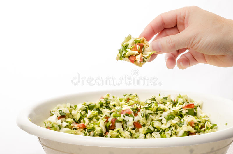 Cabbage salsa dip royalty free stock images