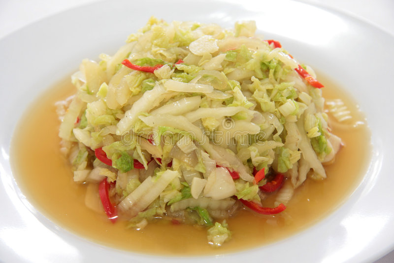 Cabbage shreds stock image