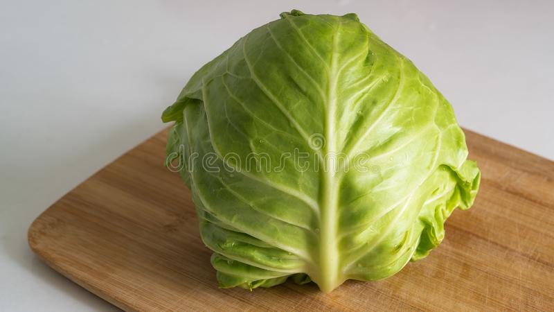 Cabbage cabbage on the table stock photos