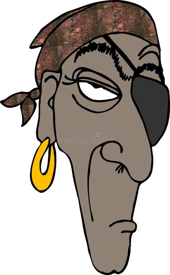 Download Cabeça 1 do pirata ilustração stock. Ilustração de preto - 110561