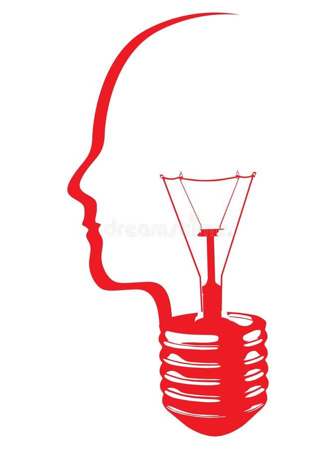 Cabeça abstrata da ampola ilustração stock